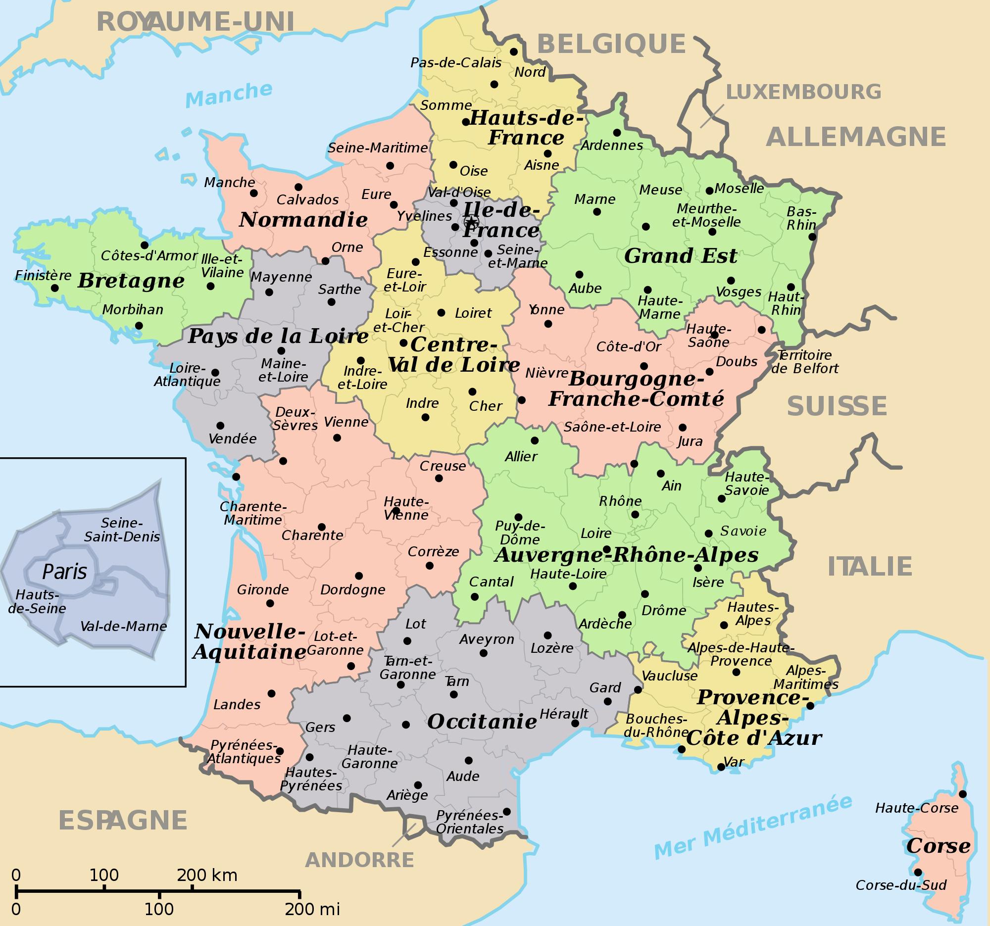 Frankrikes regioner