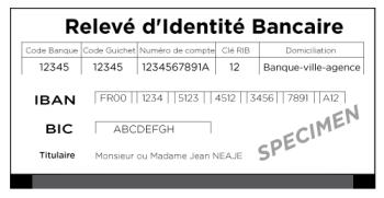 RIB - Bankkontouppgifter i Frankrike